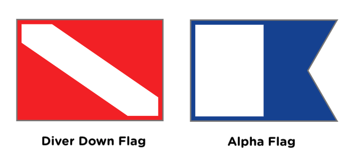 two types of diver down flags