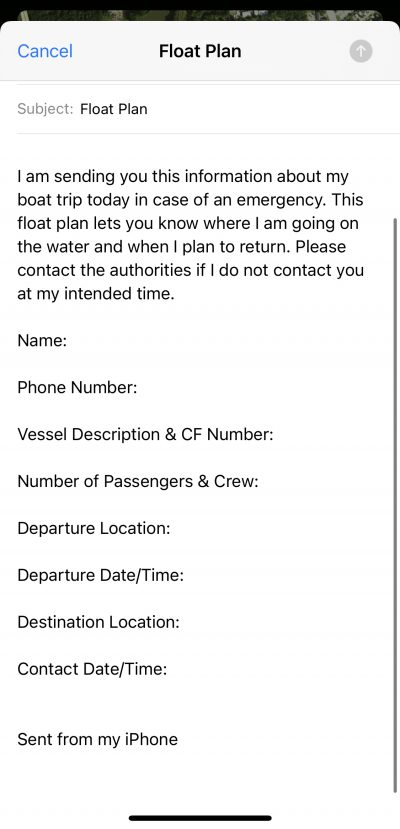 float-plan-email