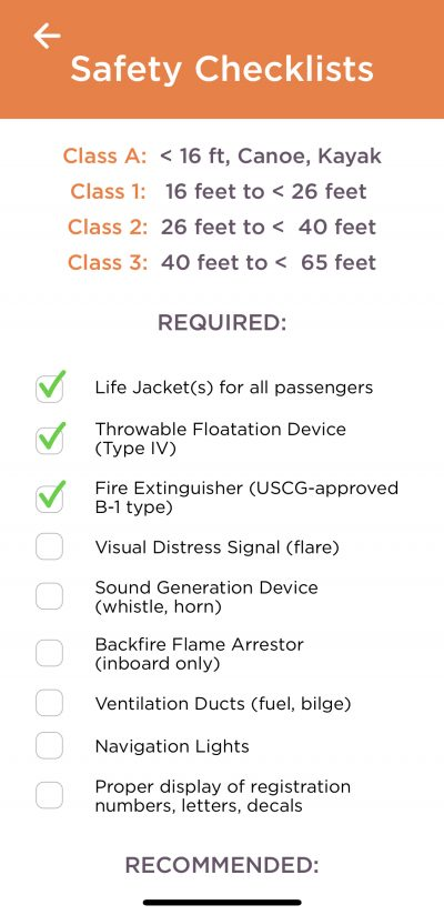 safety checklists